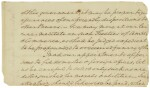 Washington, George. Autograph manuscript fragment from his undelivered first Inaugural Address