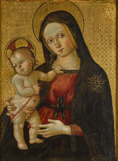 View 1. Thumbnail of Lot 24. MASTER OF THE ORTE MADONNA  |  THE VIRGIN AND CHILD.