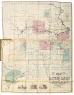 KANSAS—WHITMAN, E. B., AND A. D. SEARL   Map of Eastern Kansas. Lawrence, Kansas [Boston: J. P. Jewett and Co.], 1856