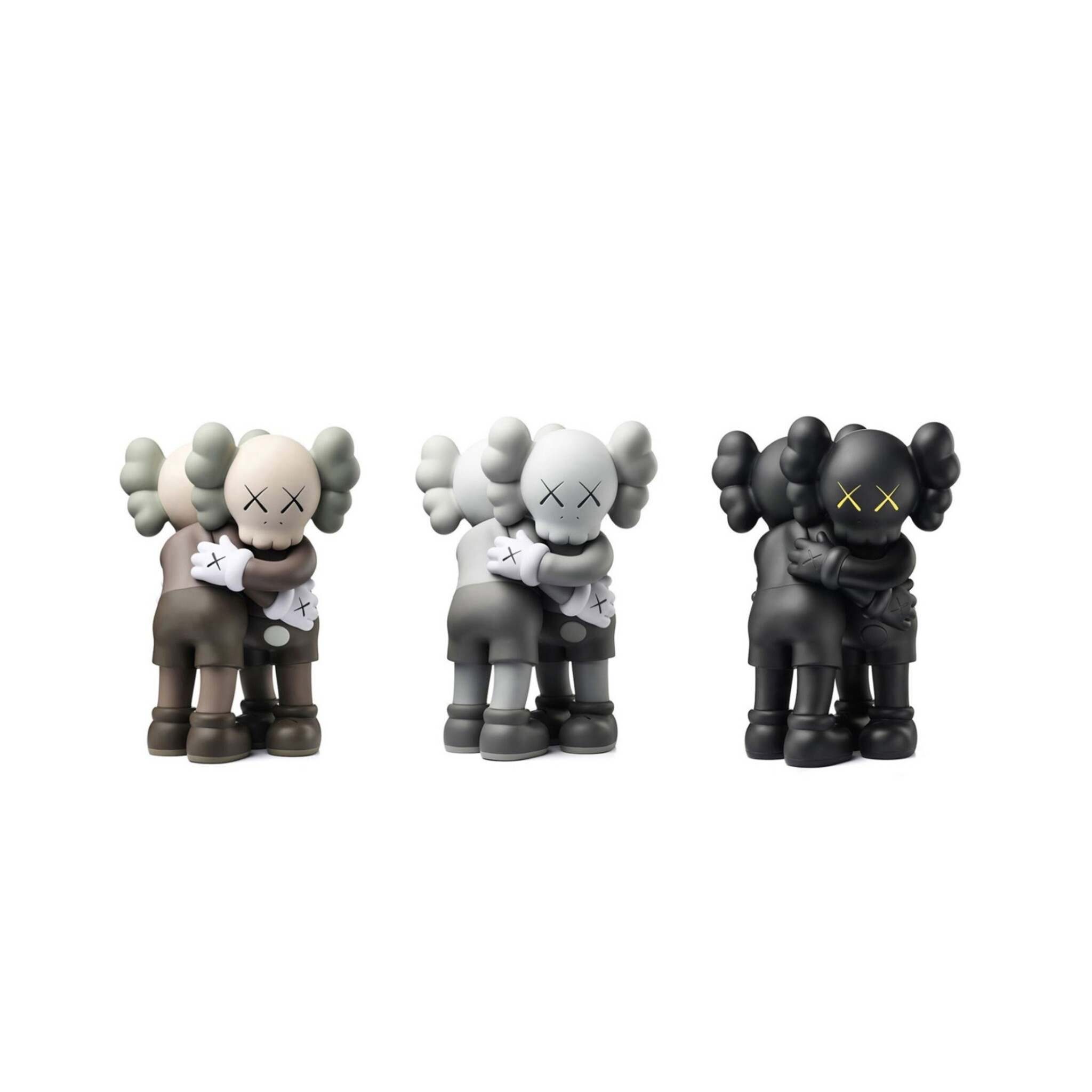 View full screen - View 1 of Lot 8. KAWS |  TOGETHER (BLACK; BROWN; AND GREY).