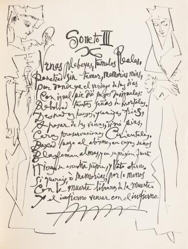 View 3. Thumbnail of Lot 157. Vingt Poèmes de Gongora. 1948. Exemplaire sur papier du Marais. 41 eaux-fortes et aquatintes..