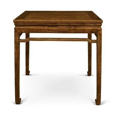 View 7. Thumbnail of Lot 148. A 'huanghuali' and mixed-hardwood square games table, Late Qing dynasty / early 20th century.