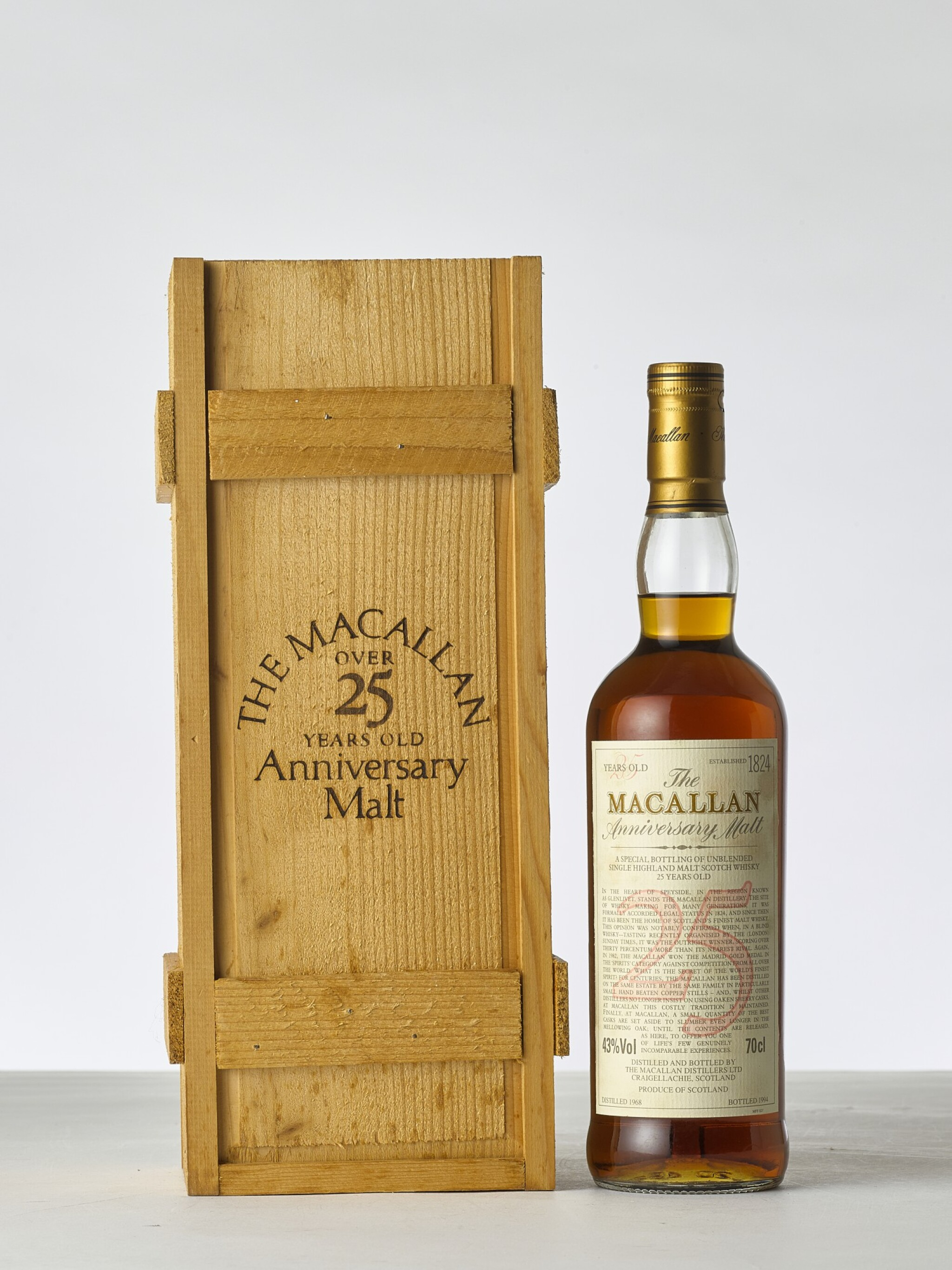 View 1 of Lot 2008. The Macallan 25 Year Old Anniversary Malt 43.0 abv 1968 (1 BT70).