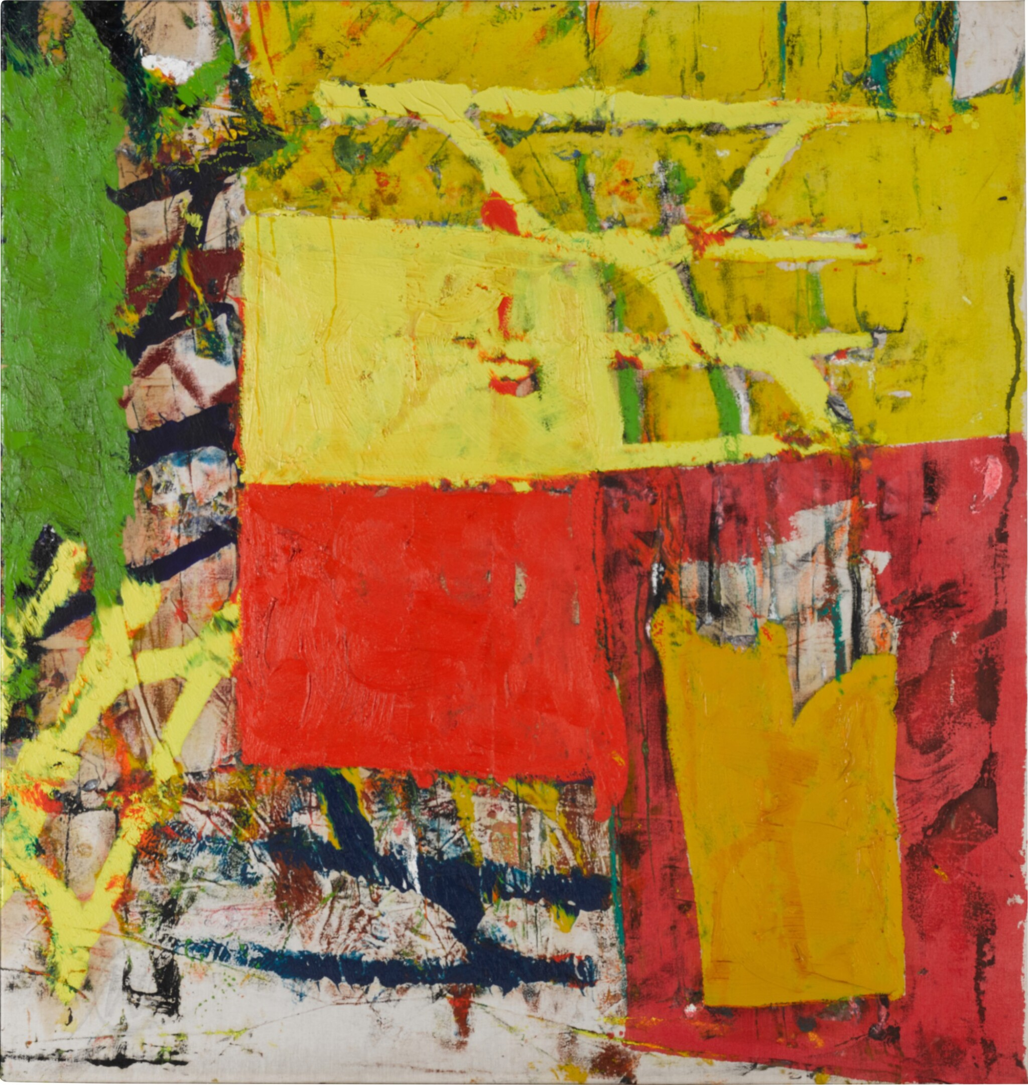 View 1 of Lot 35. Untitled (Yellow- Red Composition).