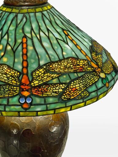 "View 2. Thumbnail of Lot 25. TIFFANY STUDIOS | ""DRAGONFLY"" TABLE LAMP."
