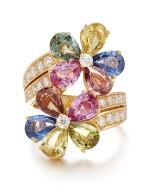 BULGARI | GEM SET AND DIAMOND RING | 寶格麗 | 寶石 配 鑽石 戒指