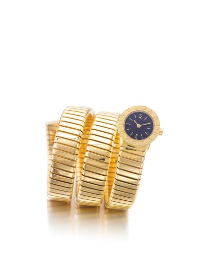 BULGARI | REF BB.19.IT TUBOGAS, A YELLOW GOLD CUFF WATCH CIRCA 2000
