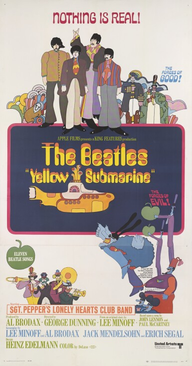 Yellow Submarine (1968) poster, US