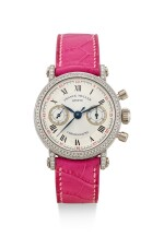 FRANCK MULLER | CHRONOGRAPHE, REFERENCE 2860 NA D,  A WHITE GOLD AND DIAMOND-SET CHRONOGRAPH WRISTWATCH WITH MOTHER-OF-PEARL DIAL, CIRCA 2008