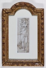 ROMAN SCHOOL, 16TH CENTURY | Study of a standing female figure, possibly Ceres