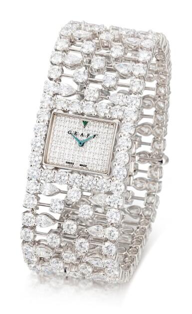View 2. Thumbnail of Lot 1027. 'Graff Lace' Reference MA20WGDD, Limited Edition White Gold and Diamond-Set Wristwatch   格拉夫  Graff Lace編號MA20WGDD,限量版白金鑲鑽石腕表,約2010年製.