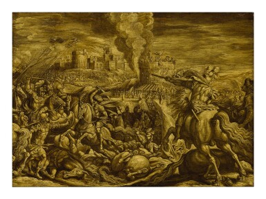 ATTRIBUTED TO ANTONIO TEMPESTA | A CAVALRY BATTLE BEFORE THE WALLS OF A CITY