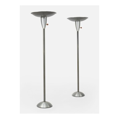 RUSSEL WRIGHT | PAIR OF REFLECTOR FLOOR LAMPS