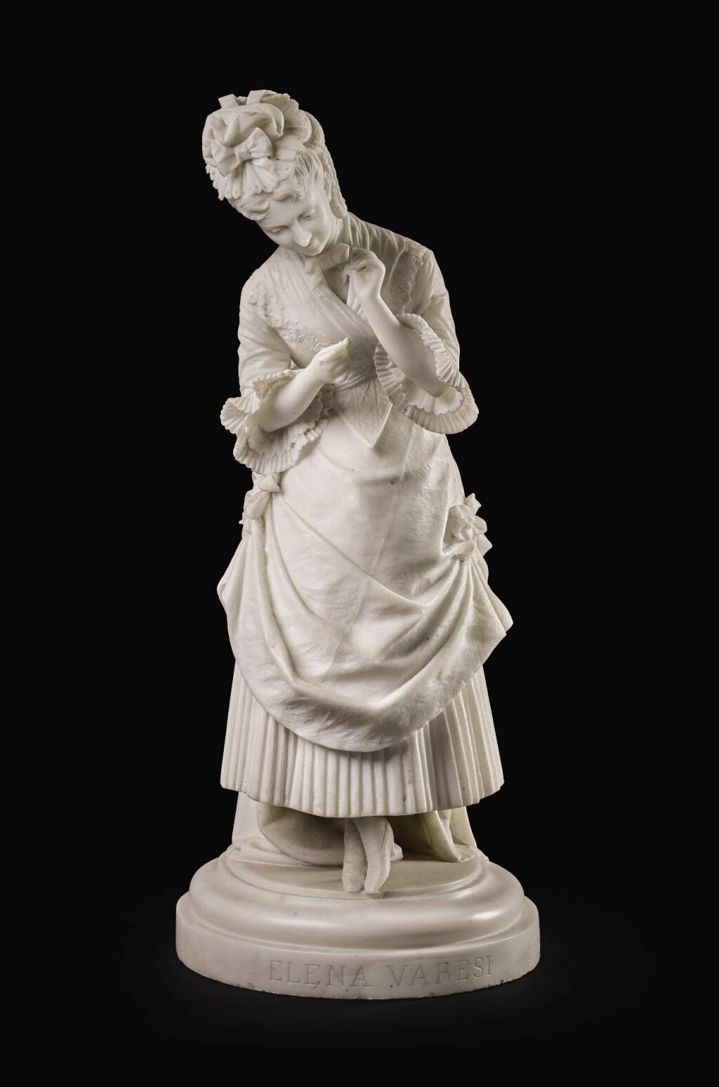ETTORE XIMENES | PORTRAIT OF ELENA VARESI (1844-1920)
