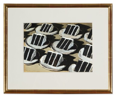 View 2. Thumbnail of Lot 221. WAYNE THIEBAUD | LAYER CAKE ROWS.