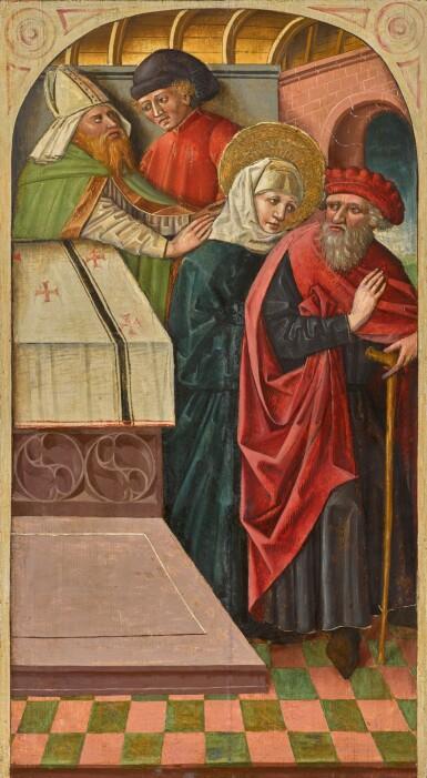 AUSTRIAN SCHOOL, 15TH CENTURY | The expulsion of Joachim from the Temple