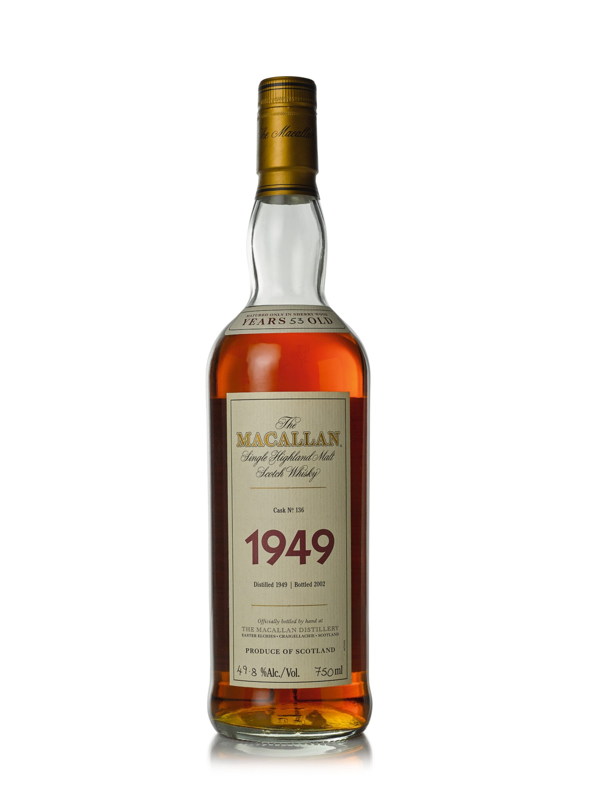 View full screen - View 1 of Lot 22. The Macallan Fine & Rare 53 Year Old 49.8 abv 1949 (1 BT75cl).
