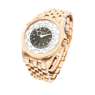 View 2. Thumbnail of Lot 8007. Patek Philippe | Reference 5130, A pink gold world time wristwatch with bracelet, Circa 2016 | 百達翡麗 |  型號5130   粉紅金世界時間鏈帶腕錶,約2016年製.