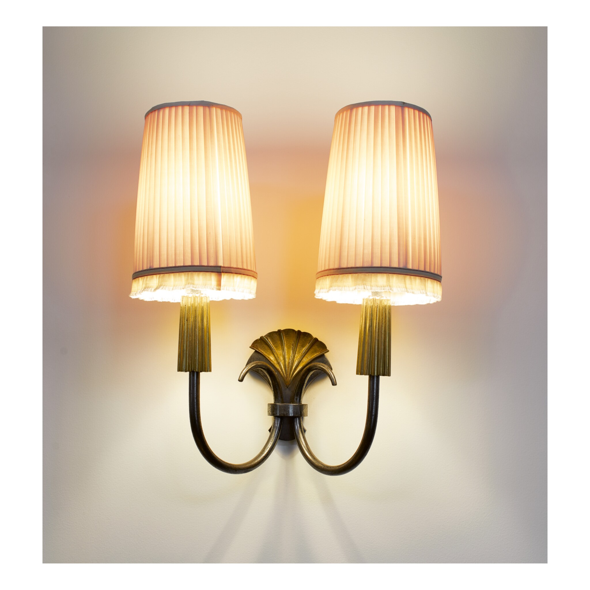 GENET & MICHON | PAIR OF TWO-LIGHT SCONCES