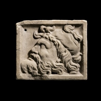 View 1. Thumbnail of Lot 100. A Roman Marble Relief Plaque, circa 2nd Century A.D..