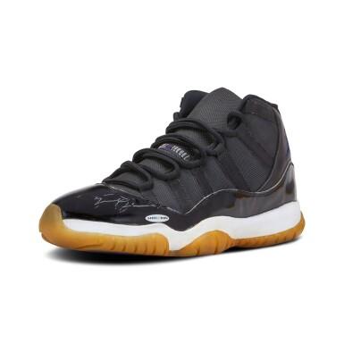 View 6. Thumbnail of Lot 1. Michael Jordan Signed 'Player Sample' Deadstock Air Jordan 11 'Space Jam' | Size 13.