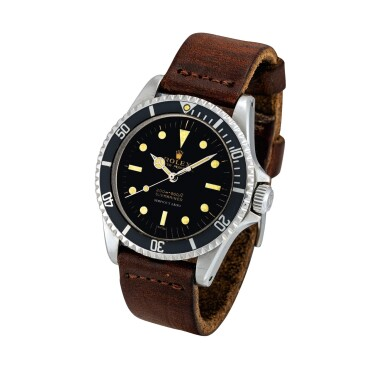 View 2. Thumbnail of Lot 2285. Rolex | Submariner, Reference 5513, A stainless steel wristwatch with pointed crown guards and underline gilt dial, Retailed by Serpico Y Laino, Circa 1963 | 勞力士 | Submariner 型號5513 精鋼鏈帶腕錶,備尖形錶冠護橋及漆製錶盤,由 Serpico Y Laino 發行,約1962年製.