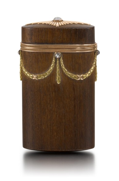 View 3. Thumbnail of Lot 50. A varicolour gold-mounted and palisander wood etui, Anna Ringe, St Petersburg, 1899-1903.