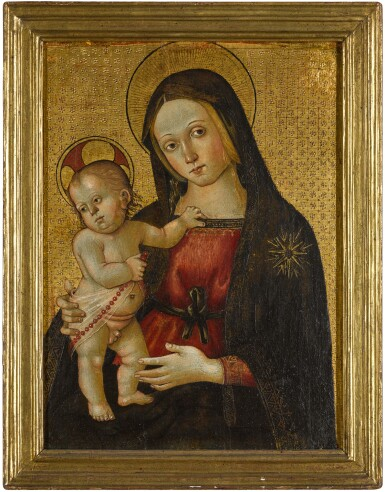 View 3. Thumbnail of Lot 24. MASTER OF THE ORTE MADONNA  |  THE VIRGIN AND CHILD.