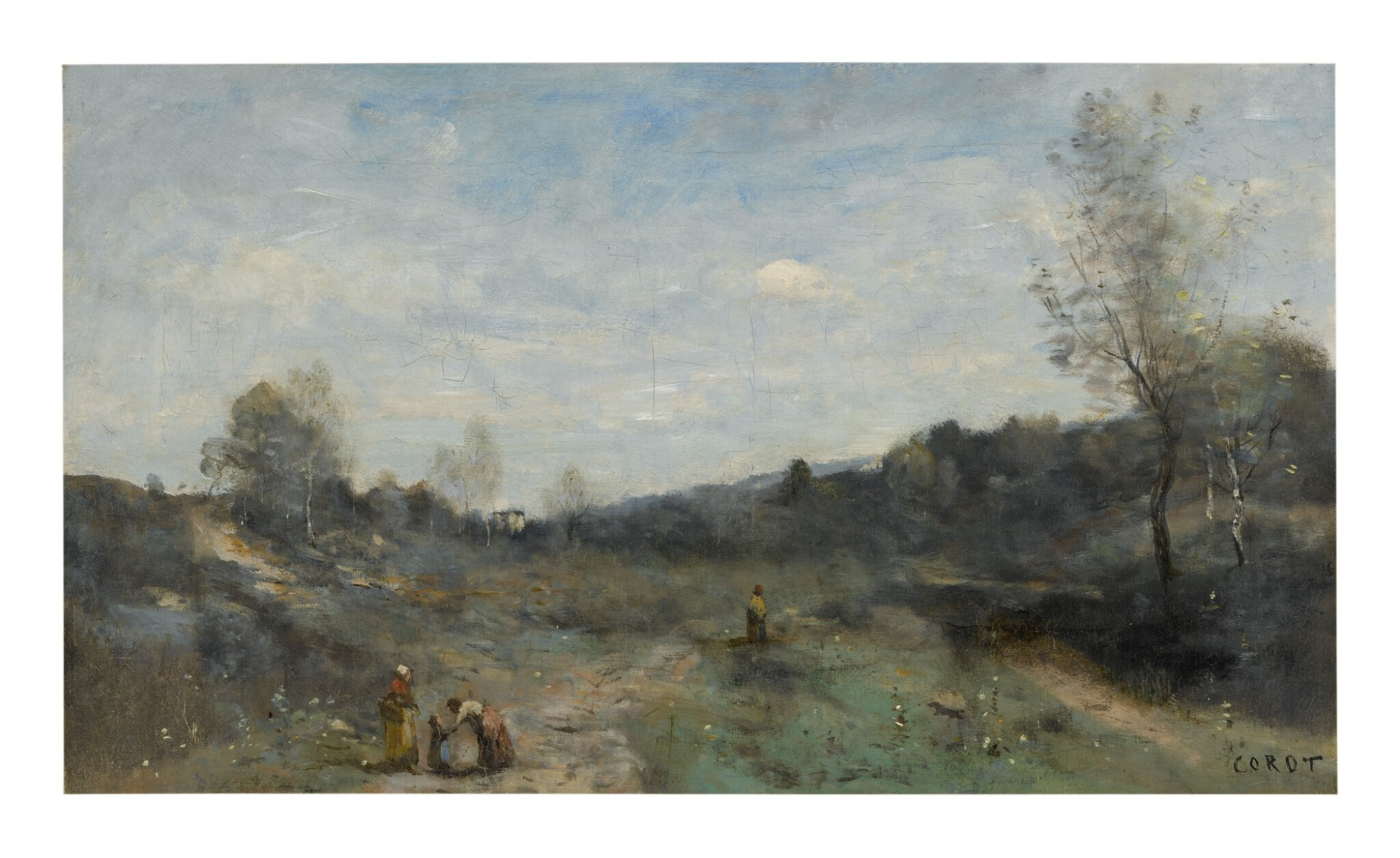 View full screen - View 1 of Lot 16. JEAN-BAPTISTE-CAMILLE COROT   VALLONS DÉFRICHÉS .