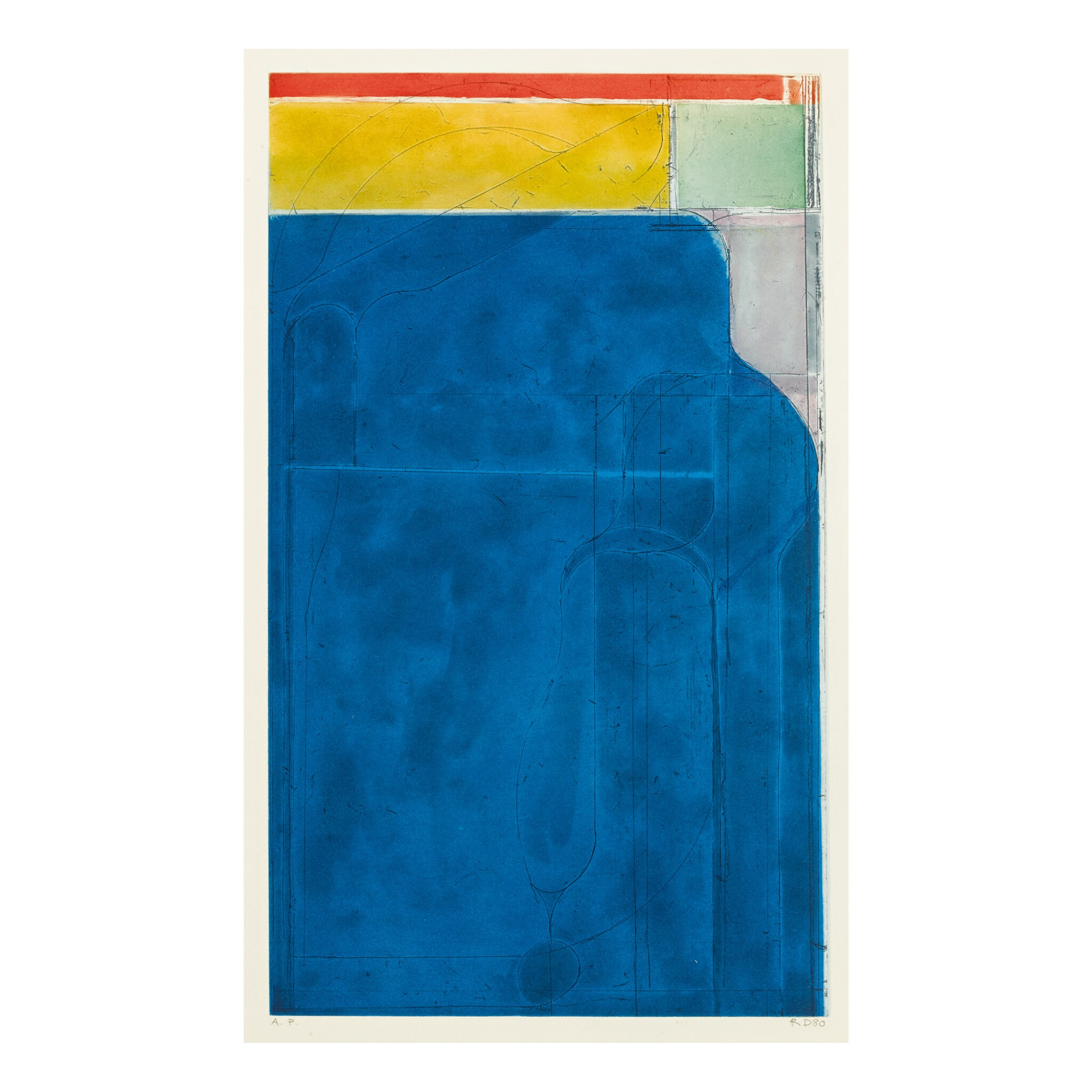 View full screen - View 1 of Lot 25. RICHARD DIEBENKORN | LARGE BRIGHT BLUE.