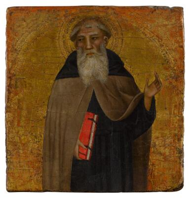 View 1. Thumbnail of Lot 5. A male saint, possibly Saint Anthony Abbot .