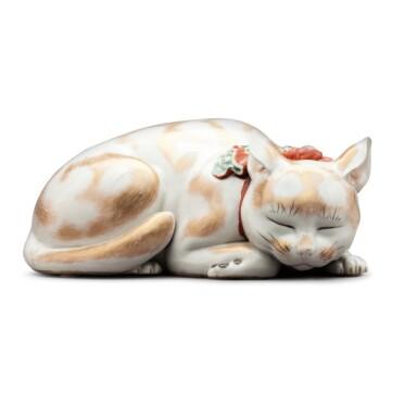 View 3. Thumbnail of Lot 14. Japan, Taisho period, 20th century  | Sleeping Cat .