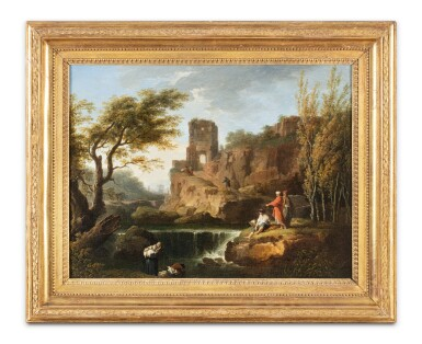 View 2. Thumbnail of Lot 166. An animated landscape with waterfalls .