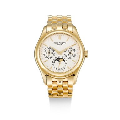 PATEK PHILIPPE  |  REFERENCE 5136,  A YELLOW GOLD PERPETUAL CALENDAR WRISTWATCH WITH MOON PHASES, 24 HOURS AND LEAP YEAR INDICATION, CIRCA 2008