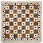 A MUGHAL PIETRA DURA CHESS BOARD, NORTH INDIA, 17TH/18TH CENTURY