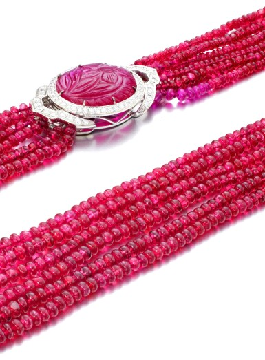 View 3. Thumbnail of Lot 28. MICHELE DELLA VALLE | SPINEL, RUBY AND DIAMOND NECKLACE.