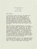 Ronald Reagan | Series of 37 letters to Senator George Murphy, and related material, 1968-90