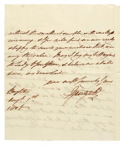 TANKERVILLE   Correspondence, 19th century