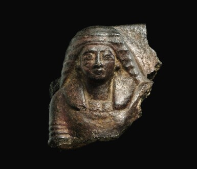 View 1. Thumbnail of Lot 54. AN EGYPTIAN GRANITE BUST OF MAN, 19TH/20TH DYNASTY, 1292-1075 B.C..