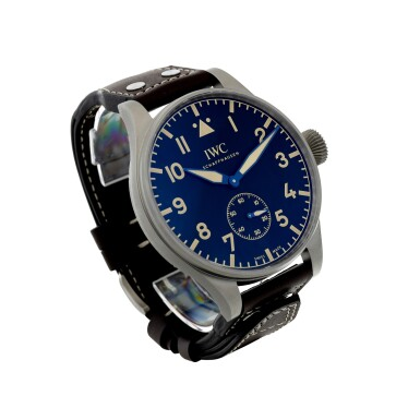 View 3. Thumbnail of Lot 53. REFERENCE IW5104-01 BIG PILOT HERITAGE 55 A LIMITED EDITION TITANIUM WRISTWATCH, CIRCA 2016.