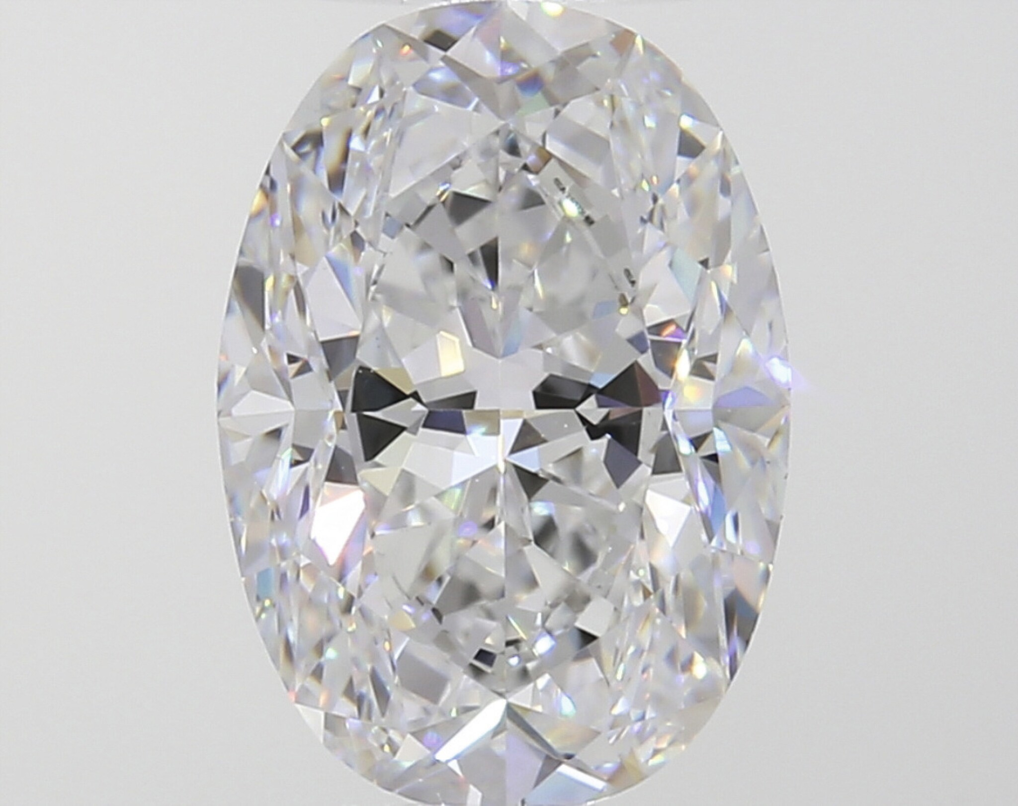A 4.02 Carat Oval-Shaped Diamond, D Color, VVS1 Clarity