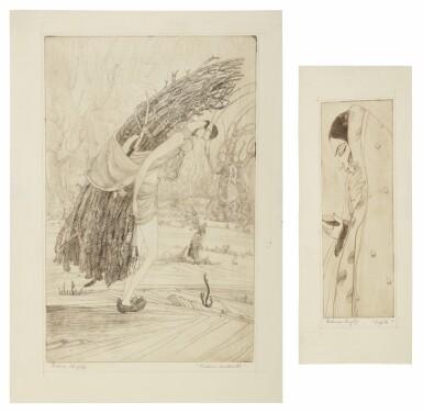 View 1. Thumbnail of Lot 1802. ABDUR RAHMAN CHUGHTAI | KASHMIRI WOODCUTTER; DUPTA (SIC).