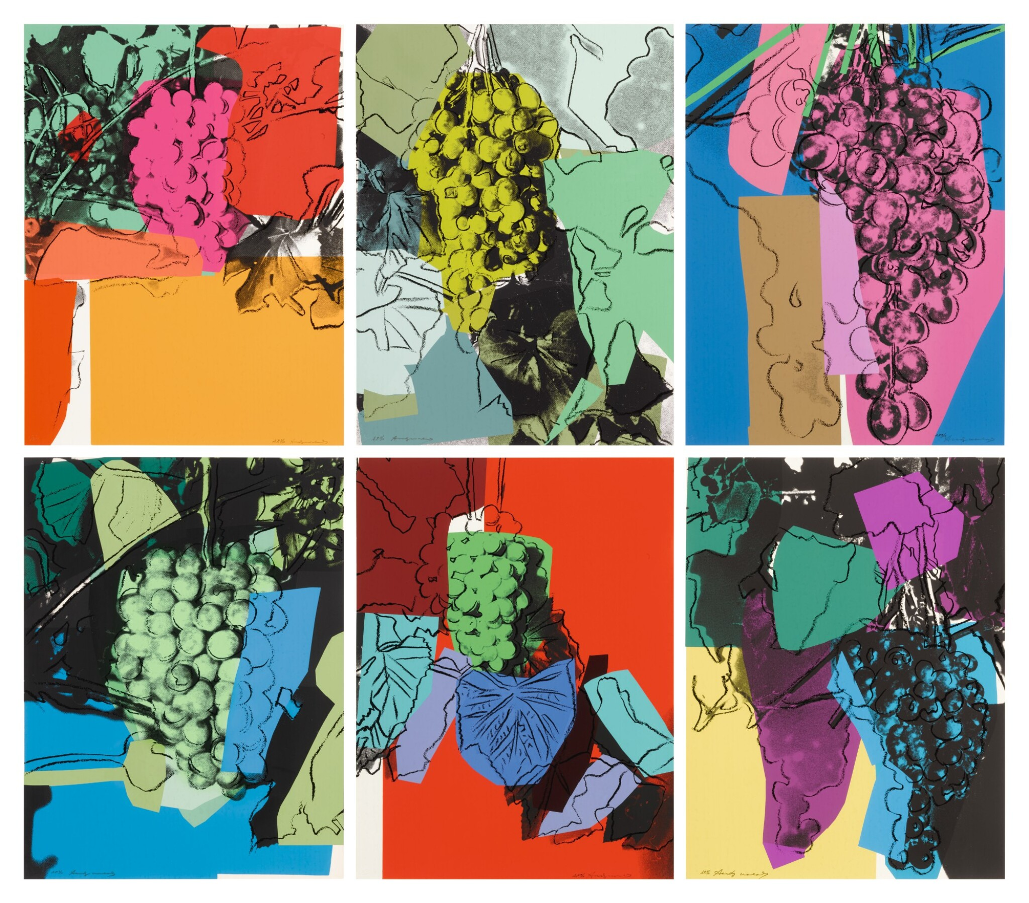 View full screen - View 1 of Lot 77. ANDY WARHOL | GRAPES (F. & S. II.190-195).