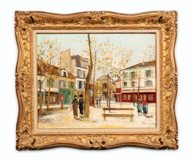 View 2. Thumbnail of Lot 49. MAURICE UTRILLO | PLACE DU TERTRE À MONTMARTRE     .