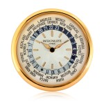 View full screen - View 1 of Lot 202. A large gilt brass wall clock with world time dial, Circa 2000.