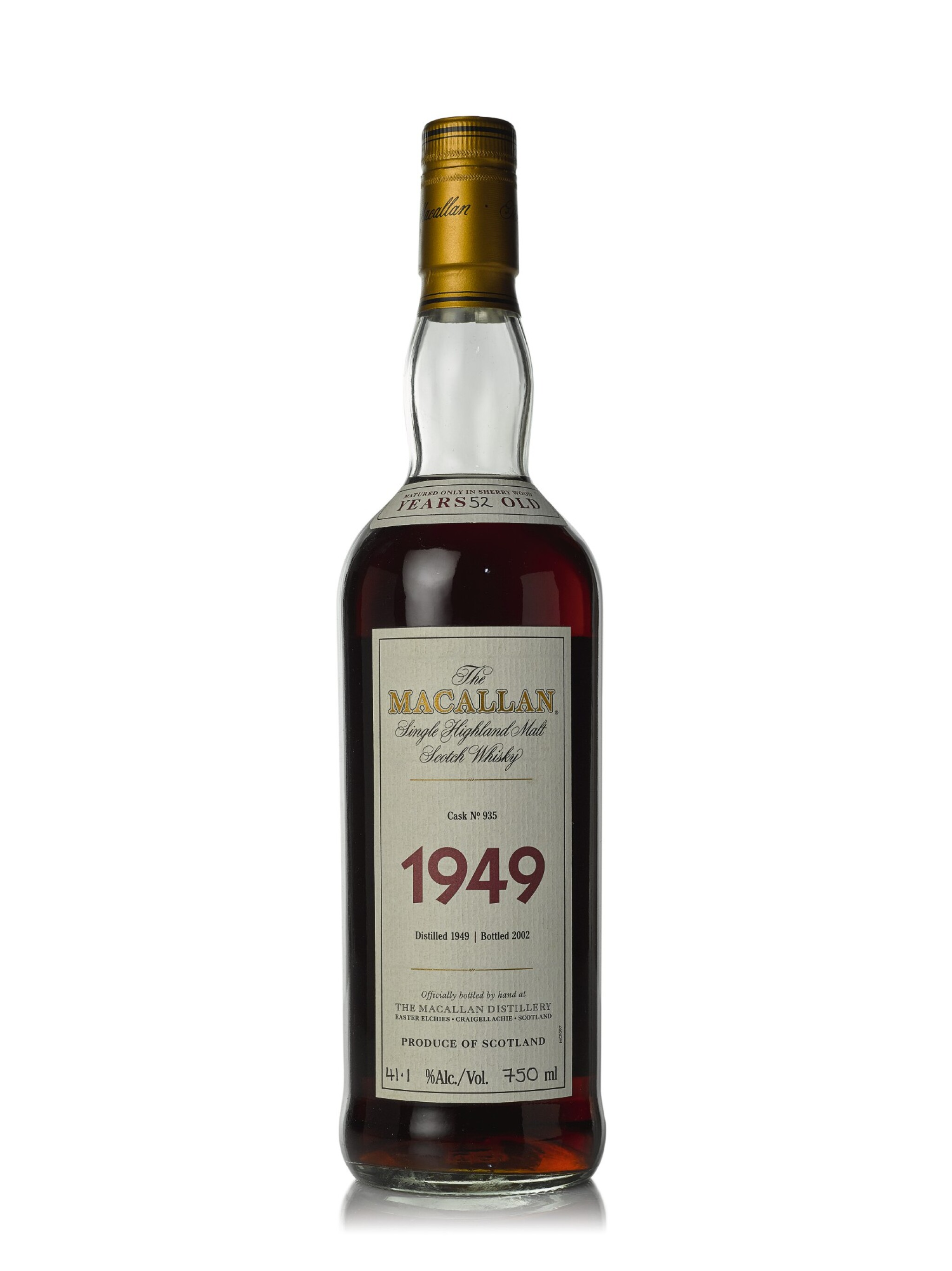View full screen - View 1 of Lot 21. The Macallan Fine & Rare 52 Year Old 41.1 abv 1949 (1 BT75cl).