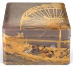 A LACQUER TEBAKO [ACCESSORY BOX], EDO PERIOD, 19TH CENTURY