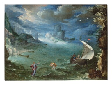 View 1. Thumbnail of Lot 138. PAUL BRIL  |  COASTAL LANDSCAPE WITH THE CALLING OF SAINT PETER.
