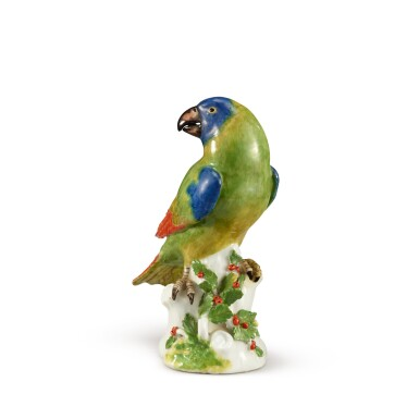 View 2. Thumbnail of Lot 206. A MEISSEN FIGURE OF A PARROT, CIRCA 1745.