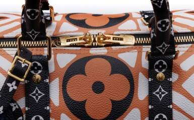 View 7. Thumbnail of Lot 318. Caramel and Cream Crafty Keepall Bandouliere 45cm in Monogram Giant Coated Canvas with Gold Tone Hardware, 2020.